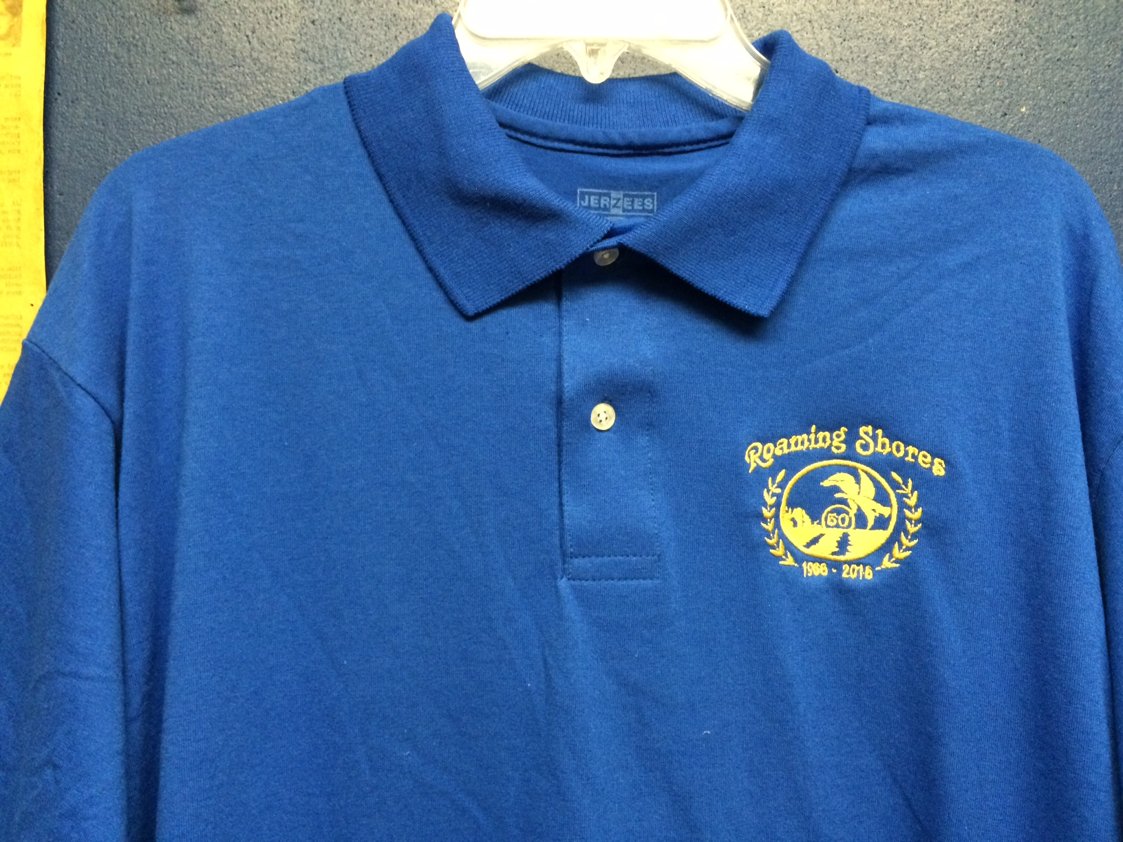 The 50th Anniversary Committee Is Offering Gold Color Embroidered Logo On Golf Shirts Hats Tee Also They Are