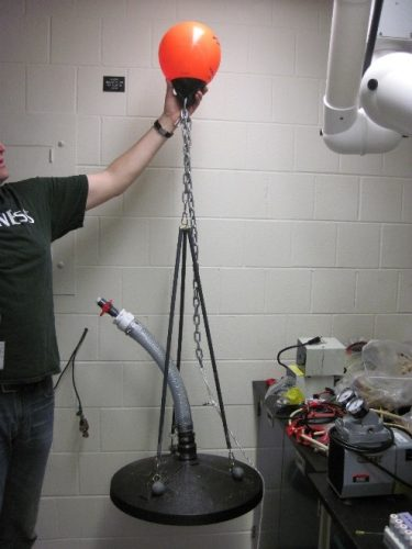Figure 1: Methane bubble collectors. One collector will be deployed below each buoy.
